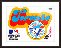 1978 toronto blue jays fleer decal baseball art reproduction poster Picture Frame print