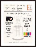 1975 stanley cup finals philadelphia flyers ticket stub hockey poster Picture Frame print