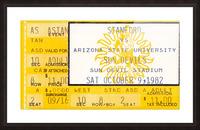 1982 arizona state sun devil college football ticket stub canvas sports wall art Picture Frame print
