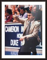 college basketball art coach k duke university basketball poster Picture Frame print