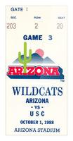 1988 arizona wildcats football vintage ticket stub canvas art Picture Frame print