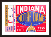 1955 indiana notre dame football ticket stub wall art canvas posters wood Picture Frame print