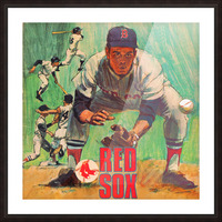 vintage boston red sox best metal sports signs for the garage Picture Frame print