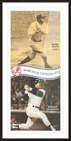 1977 MLB New York Yankees Babe Ruth Reggie Jackson Poster Picture Frame print
