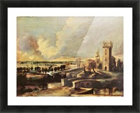 Landscape with the tower of the castle Steen by Rubens Picture Frame print
