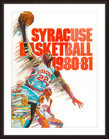 1980 syracuse orange basketball poster Picture Frame print