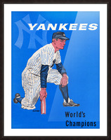 1958 New York Yankees Vintage Baseball Art Picture Frame print