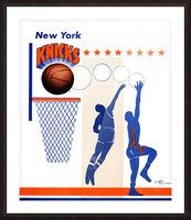 George Kalinsky Art Vintage New York Knicks Poster Reproduction Sports Art Picture Frame print