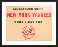 1961 New York Yankees World Series Wooden Baseball Prints Picture Frame print
