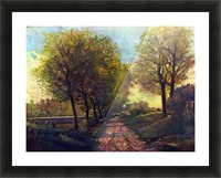 Lane near a small Town by Sisley Picture Frame print