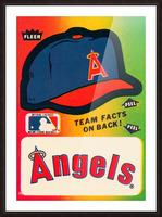 1983 fleer baseball sticker california angels poster Picture Frame print