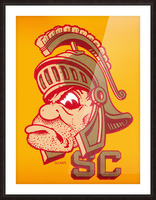 Vintage Fifties SC Trojan Art  Picture Frame print