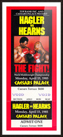 1985 hagler hearns boxing match caesars palace las vegas the fight Picture Frame print