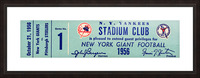 1956 new york giants football ticket stub reproduction print Picture Frame print