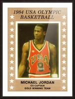 1984 usa olympic basketball gold medal michael jordan wood print Picture Frame print