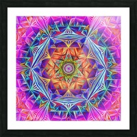 Sacred Geometry Mandala Handdrawing Picture Frame print