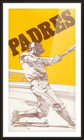 1974 san diego padres art reproduction Picture Frame print