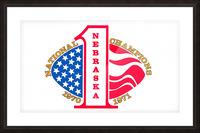 1971 nebraska cornhuskers football national champions poster Picture Frame print