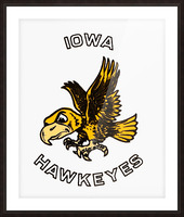 vintage iowa hawkeyes wood signs college mascot art Picture Frame print