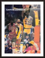 1983 Magic Johnson LA Lakers Retro Poster Picture Frame print