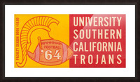 usc university of southern california trojans football art 1964 Picture Frame print