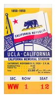 1950_College_Football_California vs. UCLA_California Memorial Stadium Picture Frame print