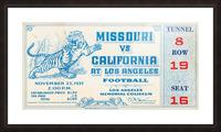 1937_College_Football_California vs. Missouri_Los Angeles Coliseum Picture Frame print