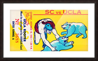 1955 usc ucla bruins rooter college football ticket stub Picture Frame print