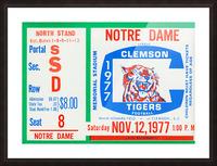 1977 Notre Dame vs. Clemson Picture Frame print