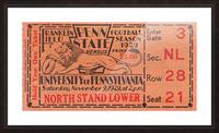 game room decor ideas 1929 pennsylvania penn state ticket canvas Picture Frame print