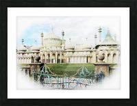 Brighton Pavilion Street View Picture Frame print