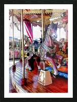 Merry Go Round Horses Picture Frame print