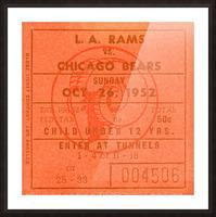 1952 la rams chicago bears nfl ticket art wood print Picture Frame print