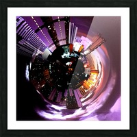 Urban on tiny planet design Picture Frame print