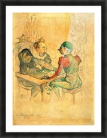 Le Bezigue by Toulouse-Lautrec Picture Frame print