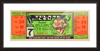 1950 tulane lsu tigers college football ticket sports art gifts baton rouge la Picture Frame print