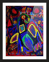 Abstract Bird Picture Frame print