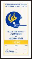 1987 Cal Bears vs. Arizona State Picture Frame print