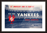 1963 new york yankees world champions scorecard canvas Picture Frame print