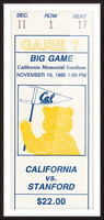 1988 Cal vs. Stanford Picture Frame print