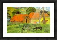 Le Trois Huttes by Gauguin Picture Frame print