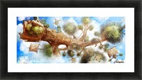 Tree Ship Picture Frame print