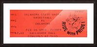 1983 Oklahoma vs. OSU Bedlam Basketball Picture Frame print
