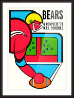 1977 Chicago Bears Schedule Picture Frame print