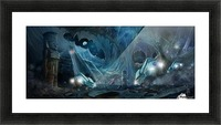 Ancient Aliens on the Moon Picture Frame print