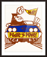 1976 padre power poster san diego Picture Frame print
