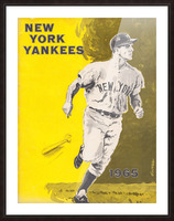 1965 new york yankees poster Picture Frame print