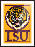 lsu tigers retro poster Picture Frame print