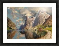 Sommer im Fjord Picture Frame print