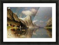 Fjordlandskap Picture Frame print